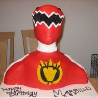 3D Red Power Ranger This cake was a gift for a little boys 4th birthday, who is fighting cancer, and the doctors have told his family that it would be his last...
