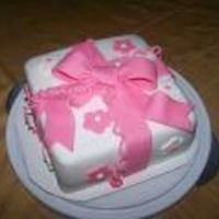 Fondant Gift Cake I made in the Wilton Course 3 class