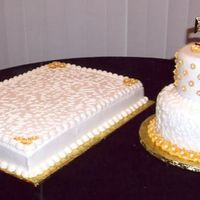50Th Anniversary 50th anniversary cakes with cornelli lace and royal icing flowers