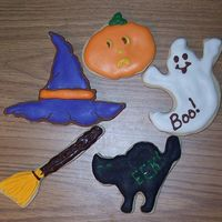 Hats, Ghosts, Pumpkins And Brooms Some cookies we made for Halloween, I was experimenting with using chocolate for some of the features.