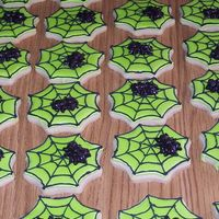 Spider Webs sugar cookies with black spider candies