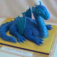 Saphira The Dragon This was made by sculpting cake and Rice Krispies treats (for the neck and head) and covering in buttercream and fondant. The wings are...