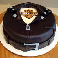Harley Biker Jacket Cake  This is my take on the biker jacket cake -- everything MMF. Made it for a friend who was in town on business on her birthday. Didn't...