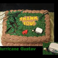 Hurricane Gustav - Thank You!  I made this cake to thank someone who really assisted my family in the aftermath of Hurricane Gustav. I live in an area that was hardest...