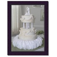 Very Classy Just an all white fondant cake w/ swags.