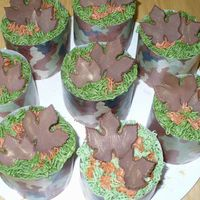 Mini Cakes this was for a baby shower - the camo is rice paper