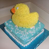 Rubber Ducky Rubber Ducky-Themed Baby Shower. Wilton Duck 3D pan -- Super Easy!