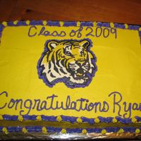 Lsu Graduation Cake   This was my first time to do a FBCT. Very easy!
