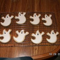 Ghost Cookies NFSC and royal icing. For son's preschool party.