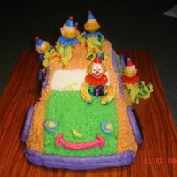 Clown Car This clown car is made from the Wilton 3D Cruiser Car pan. I made it for a cake walk for the Fall Festival at my daughter's school....