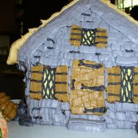 Hagrid's Hut My daughter wanted a Harry Potter birthday paty, so I used Wilton's stand-up house pan to make a Hagrid's Hut cake. One of the...