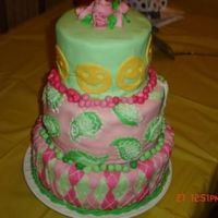 S & K's Birthday Cake I made this for my daughter and her friend who were sharing their 12th birthday party. She picked out argyle and paisley scrapbook paper...