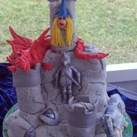 Knights In Shining Armor Birthday Cake This was made for my son's 3rd birthday party. The theme was medieval knights. I used Debbie Brown's modeling tips from her book...