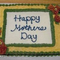 Mothers Day Cake With Red Roses And Bees
