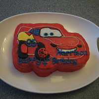 Lightning Mcqueen Cars Cake I am kind of disappointed with how this cake turned out. Against my better judgement, I made my own icing (I usually buy it from a cake...