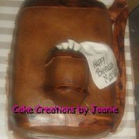 Golf Bag buttercream with fondant accents