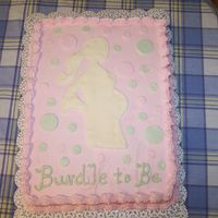 Silhouette Babyshower Cake I was so pleased with how this turned out. The silhouette is white chocolate. The dots are MMF fondant. I love the soft colors that the...