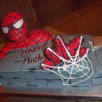 Spiderman 3-D   All cake & buttercream 3-D cake