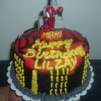 Spiderman 2 Another view of the cake