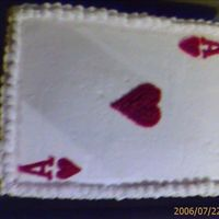 Ace Of Hearts I made this cake today for a couple who is having their bridal shower today.