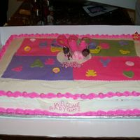 Blanket Cake This cake was inspired from Boweens cake. I put it on a full sheet cake. I really don't like plain sheet cakes so I really like to...