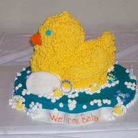 Rubber Ducky This cake was inspired by Cinda's Creative Cakes. Pretty simple. Some other ideas came from Boween who is great. The cake was simple...