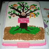 Family Tree The tree was in the theme of the baby shower invitation. 11x15 with BC. BC tree with candy melt faces and plaques. The texture on the tree...