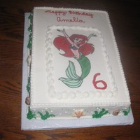 "Ariel 11x15; chocolate with chocolate mousse; fbct; choc mold shells. Added cookie/graham ""sand"" at the party around the edge of the..."