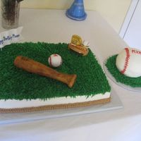 Baseball Birthday 11x15 with RK bat and ball both covered in MMF. BC rest. MMF banner. BC smash cake baseball. The mom added the ceramic topper in the top...