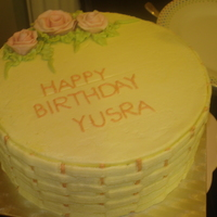 Basket Wave butter cream icing