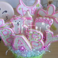 Baby Girl Shower Cookies Mas baby shower cookies!!!