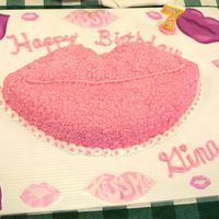 Kissy Lip Birthday I made this cake for my friend's 7 yr old daughter birthday. It is not the best in the world, but I was fairly pleased with the final...