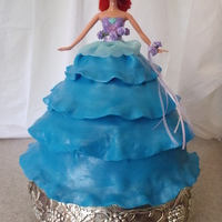 Ariel   Doll cake with fondant dress.... Ty CC users for the ideas :) The party girl LOVED it ... so did all the other little girls :)