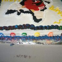 M&m's Birthday Cake i made this cake for my moms 45th birthday, and it was my first butterecream transfer.