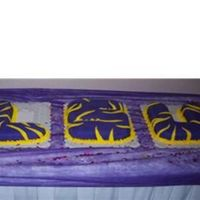 Lsu Grooms Cake Marble cake for an LSU fans grooms cake.
