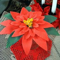Poinsettia Flower This is a sugar paste flower. I never made one. Just had to try.