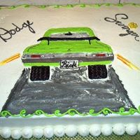 Dodge Swinger This is a thank you cake for getting a transmission fixed in my classic car. The cake was hand drawn. Chocolate and white cake. All...