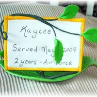 Placement Card This is the front of the placement card. The cake will be like a family tree branch. All sugarpaste.