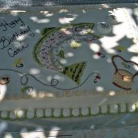 A Fish For Carl All buttercream icing. The fish was not the greatest because no one at the party could figure out what kind of fish it was. Doesn't...