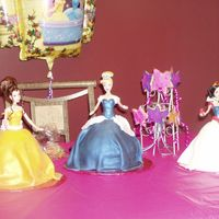 Princess Doll Cakes made these three doll cakes for my daughters 3rd bday. lots of fun!!!