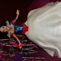 Snow White snow white doll cake, one of three cakes for my daughters b day.