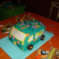 Mystery Machine made this cake for my sons birthday, very fun!!