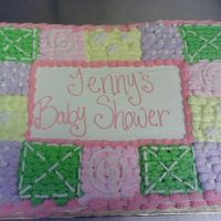 Mommy Baby Blankie okay so this lady had no idea what she wanted for her baby shower cake. She didn't want the typical baby blocks/pins/diaper...