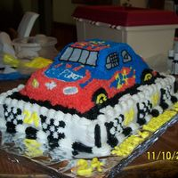 My Sons Jeff Gordon Cake Another one done - I had a lot of fun making this one! My son's request for his party tomorrow - he loves NASCAR and Jeff Gordon and...