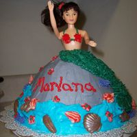 Mermaid For My Not So Little Girl My daughter requested a doll cake for her 9th birthday. She didn't want another Ariel cake. When she saw the wondermold box she...