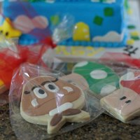 Mario Cookies   These cookie favors matched the mario cake for the weekend