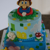 Mario 5Th Birthday  My take (with ton of inspriation from flickr and Cake Central) of Mario - Mario is molded from very stiff cake ball dough coverend in...