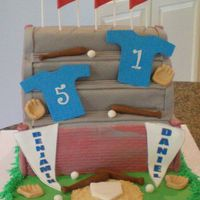 Baseball Bleachers For Bday Doubleheader   Sculpted Bleachers with fondant and gumpast accents