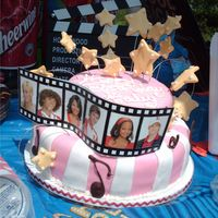 Hsm Cake This cake was for my daughter's 6th birthday. She loves HSM!!! The whole cake is fondant except for the filmstrip. Thanks for looking...