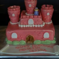 Princess Cake I made this cake for my four year old daughter's best friend's birthday. The cake was chocolate and the towers are strawberry...